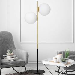 MILOOX BY Sforzin Mosazná stojací lampa Jugen dvouzdrojová