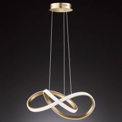 Wofi LED závěsné světlo Indigo, zlaté matné
