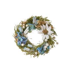 FLOWER MARKET Mini věnec ze sušených květin 12 cm - mix