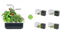 Chytrý květináč Véritable® SMART, černý, světlo měď