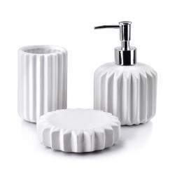 DekorStyle Sada koupelnových doplňků Ferra bílá