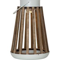 Hnědá LED lucerna Best Season Catania, výška 28 cm