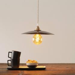 Eurokeramic Keramické závěsné světlo S1890, černá/zlatá