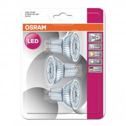 OSRAM GU10 4,3W 827 LED reflektor Star 3ks