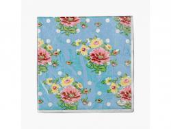 Papírové ubrousky Springtime Turkis Rosenthal 33x33 cm 20 ks
