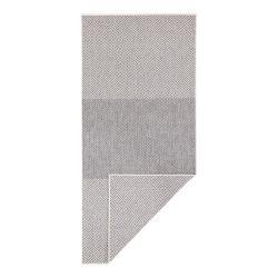 Světle šedý oboustranný venkovní koberec Bougari Borneo, 80 x 350 cm