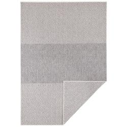 Světle šedý oboustranný venkovní koberec Bougari Borneo, 160 x 230 cm