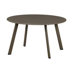 Zelený železný zahradní konferenční stolek WOOD Fer,ø70cm