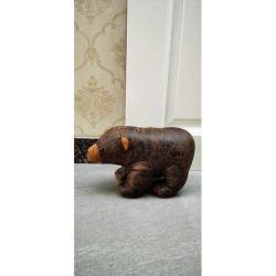 Textilní zarážka do dveří Medvěd, 29 cm