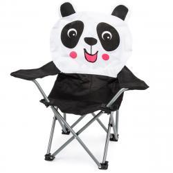 Dětské skládací křeslo Hatu, panda, 57 x 60 x 32 cm