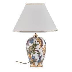 AUSTROLUX BY KOLARZ Stolní lampa Damasco se zlatem 24 karátů, Ø 30 cm