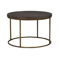 Hnědý dřevěný konferenční stolek Rowico Dalton