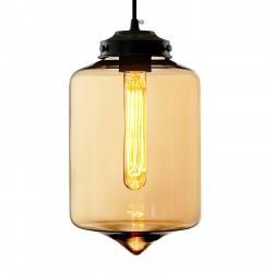 ALTAVOLA DESIGN Závěsné světlo LA011 E27 skleněné stínidlo jantar