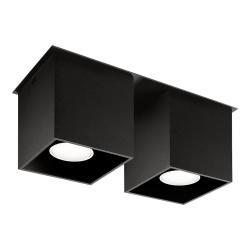 Černé stropní svítidlo Sollux Geo