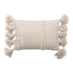 Bílý dekorativní polštář Bloomingville Cotton,20x35cm