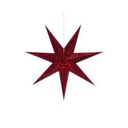 Červená závěsná světelná dekorace Markslöjd Velours,výška45cm