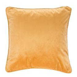 Oranžovobéžový polštář Tiseco Home Studio Velvety, 45x45cm