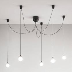 Fabas Luce LED závěsné světlo Blog, 5 zdrojů