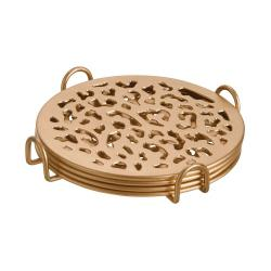 PANTHERA Kovový podtácek leopard set 4 ks