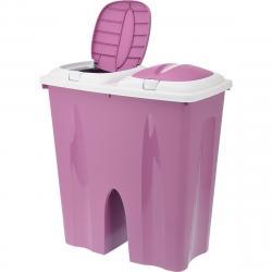 Odpadkový koš Crayon 2 x 25 l, růžová