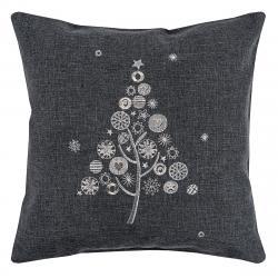 BO-MA Trading Vánoční povlak na polštářek s výšivkou, 40 x 40 cm
