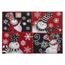 BO-MA Trading Vánoční prostírání Sněhuláci, 32 x 48 cm