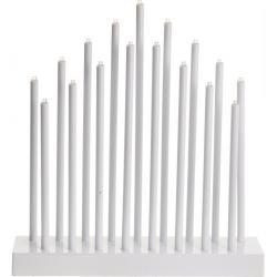 Stolní svícen Pipes bílá, 17 LED
