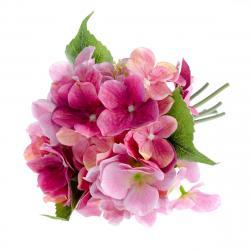 Umělá kytice Hortenzie růžová, 30 cm