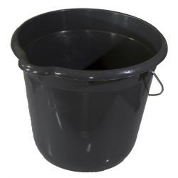 Kbelík kulatý 12 litrů, šedá