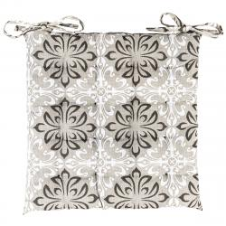 Trade Concept Sedák Grey Flower prošívaný, 40 x 40 cm