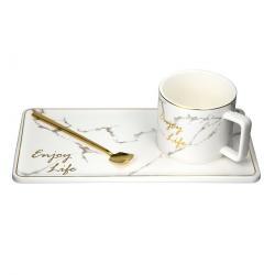 Altom Servírovací čajová sada Marble Gold, 3 ks