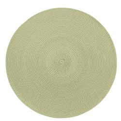 Béžovo-zelené kulaté prostírání Zic Zac Round Chambray, ø38cm