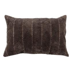Hnědý dekorativní polštář WOOOD Fallon Espresso, 40 x 60 cm
