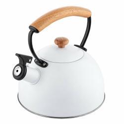 Florina Nerezový čajník Natura Line 2,3 l, bílá