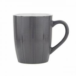 Florina Sada keramických hrnků Dabar 350 ml, 6 ks, šedá