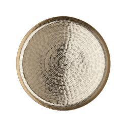 ORIENTAL LOUNGE Dekorační talíř tepaný 28 cm - zlatá