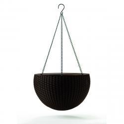 Keter Závěsný květináč Sphere antracit, pr. 35 cm