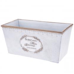 Plastový truhlík Paris, bílá, 31,5 x 15,5 x 15 cm