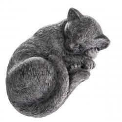 Zahradní betonová dekorace Spící kočka, 28 x 12 x 18,5 cm