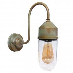 Moretti Nástěnné světlo 1950N antická mosaz, sklo čiré