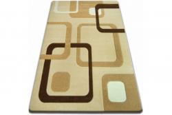 3kraft Kusový koberec FOCUS - F240 čtverce česnekový / béžový / zlatý