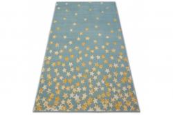 3kraft Kusový koberec PASTEL 18408/032 - hvězda / tyrkysový zlatý krémový