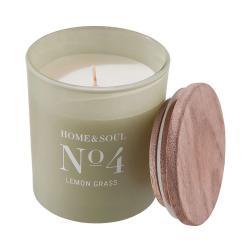 HOME & SOUL Vonná svíčka Lemon Grass No. 4
