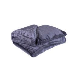 Tmavě šedá mikroplyšová deka My House Amber,200x220cm