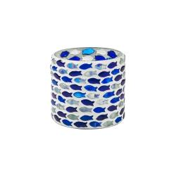 PESCE Svícen na čajovou svíčku mozaika ryba 8 cm