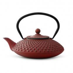 Litinová konvice na čaj Xilin Bredemeijer červená 1,2 l