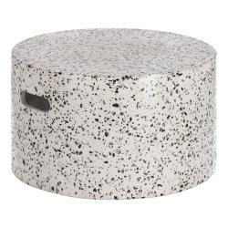 Bílý betonový odkládací stolek La Forma Jenell, ⌀ 52 cm