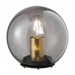 FISCHER & HONSEL Stolní lampa Dini s kulatým stínidlem ze skla 30cm