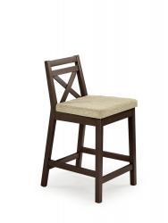 Halmar Barová židle BORYS LOW, tmavý ořech/VILA 2