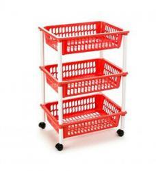 Tontarelli Pojízdný vozík Mito 3, červená